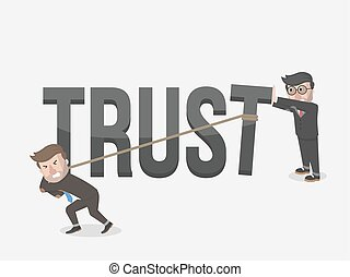 the trust of a businessman