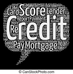 The Truth About Credit Score Myths text background word cloud concept