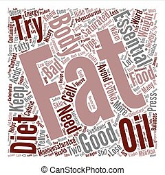 The Truth About Fat In Foods text background word cloud concept
