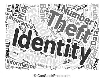 The Truth About Identity Theft Word Cloud Concept Text Background