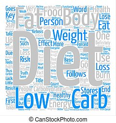 The Truth About Low Carb Diets Word Cloud Concept Text Background