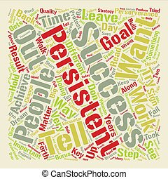 The Truth About Perserverance and Goals Word Cloud Concept Text Background