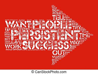 The Truth About Perserverance and Success text background word cloud concept