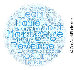 The Truth About Reverse Mortgages text background wordcloud concept