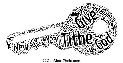 The Truth About The Tithe text background word cloud concept