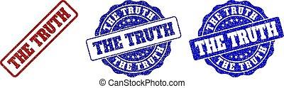 THE TRUTH Grunge Stamp Seals