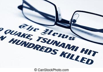 The tsunami news