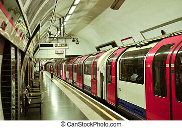 The Tube - A train is about to depart from a lonely tube...
