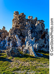 "The ""Tufa"" on bank of the Mono lake - The columns - remains ..."
