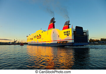The tugboat helps to a vessel