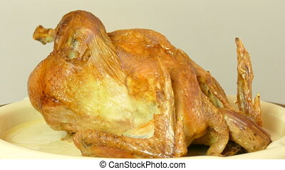 the turkey, baked in the oven
