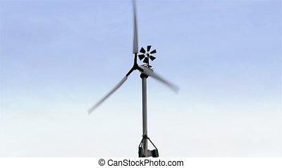 The turning wind turbine