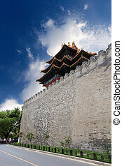 the turret of the forbidden city - turret on the ancient...