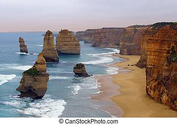 Twelve Apostles - The Twelve Apostles along the Great Ocean...