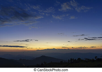 The twilight sky