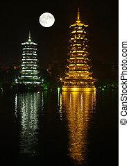 The twin pagodas