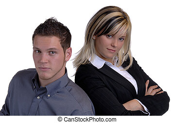 The Two Of Us - Young Attractive Business Couple At Work