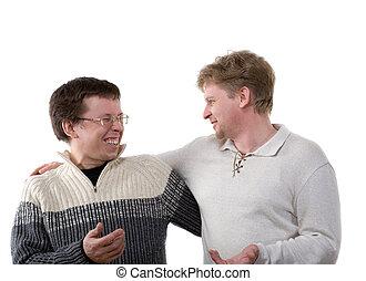 two smiling men