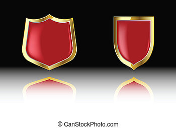 the two vector red shield