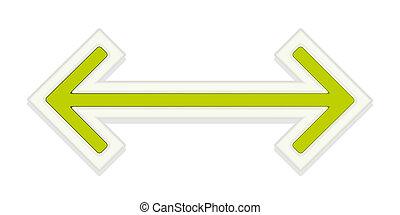 The two way arrow - The green glossy arrow graphic element