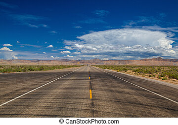 The typical US motorway, Utah, USA