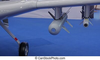 The UAV Missiles - The UAV missiles closeup military gray ...