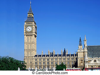 The UK Parliament - The UK houses of Parliament against a...
