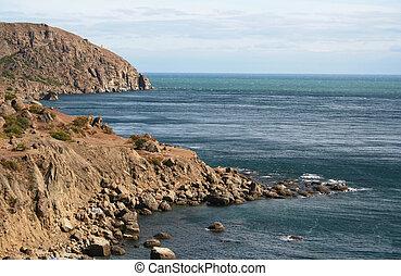 The Ukraine. Crimea peninsula. The view on Meganom cape