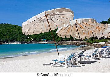 The umbrella at the island
