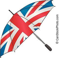 Umbrella with Union Jack symbol