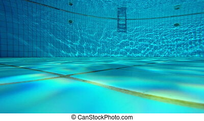 The underwater view of a swimming pool - The underwater view...