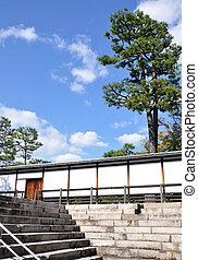 Nijo Castle , is a flatland castle located in Kyoto, Japan.