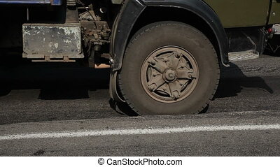 the uneven surface of the road - Uneven, damaged the surface...