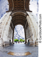 The unexpected angle Arc de Triomphe