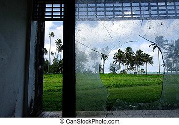 The unfinished Sheraton Hotel in Rarotonga Cook Islands