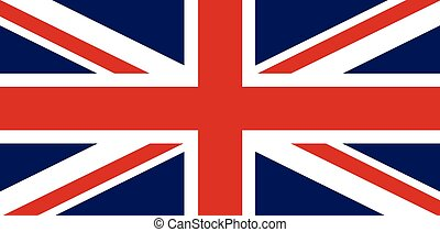 The Union Jack flag of Great Britain