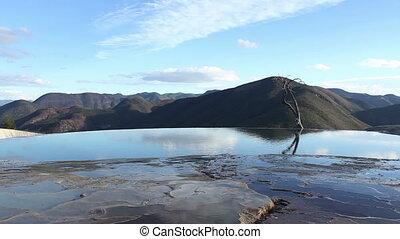 the unique and beautiful landscape of hierve al aqua in...