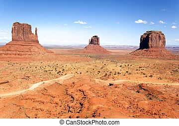 The unique landscape of Monument Valley