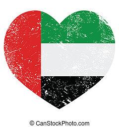 The United Arab Emirates retro flag