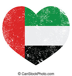 The United Arab Emirates retro flag