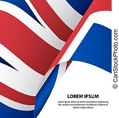 The United Kingdom UK Waving Flag Background