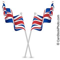 The United Kingdom UK Waving Flag