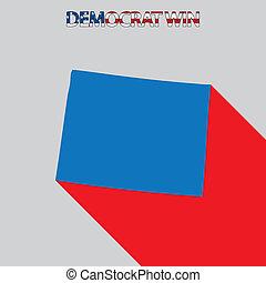 United States Election Illustration for Wyoming