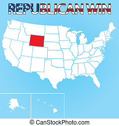United States Election Illustration for Wyoming