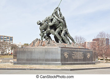 The United States Marine Corps War Memorial in Washington DC.