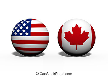 The United States of America and Canada working together,...