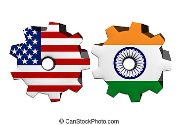 The United States of America and India working together, Two...