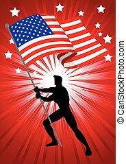 The United States of America Flag Bearer