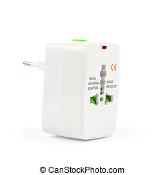 The universal adapter isolated on white background