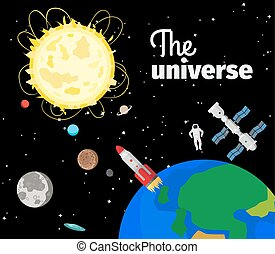 The universe in outer space